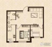 益和国际城1室1厅1卫55平方米户型图