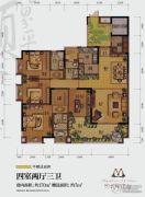 国兴北岸江山4室2厅3卫170平方米户型图