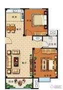 盛世康城四期・鑫园2室2厅1卫84平方米户型图