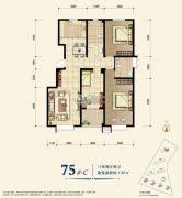 教授花园新里程3室2厅2卫130平方米户型图