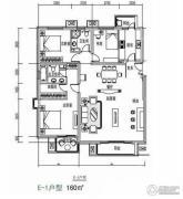 汤泉墅3室2厅2卫160平方米户型图