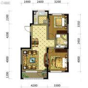五彩阳光城2室2厅1卫84平方米户型图