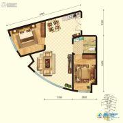 金梦海湾8号2室1厅1卫0平方米户型图