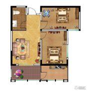 富业・景颐花园2室1厅1卫88平方米户型图