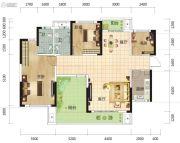 筑梦星园4室2厅2卫131平方米户型图