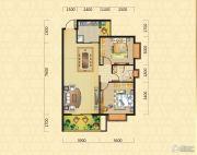 翰林华府2室2厅1卫81平方米户型图