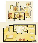 金洋奥澜半岛4室2厅2卫146平方米户型图