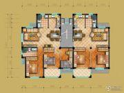 茗桂华庭3室2厅2卫86--109平方米户型图