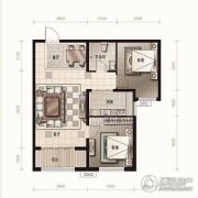 金麦加汇君城2室2厅1卫88平方米户型图