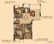 观山名筑3室2厅2卫111平方米户型图