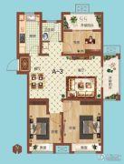 祝福红城3室1厅1卫108平方米户型图