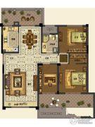 中交・南山美庐3室2厅1卫119平方米户型图