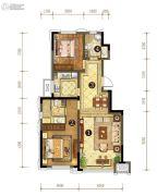 中信云邸2室2厅2卫105平方米户型图