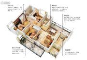 五经・山水大观3室2厅2卫112平方米户型图