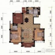 东方名城2室2厅2卫127平方米户型图