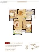 上海公馆2室2厅1卫78--81平方米户型图