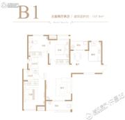德正西湖春天3室2厅2卫137平方米户型图