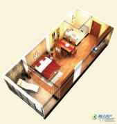 博辉戴河国际1室1厅1卫44平方米户型图
