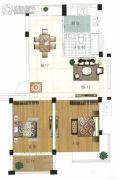 水岸帝景 多层2室2厅1卫79平方米户型图