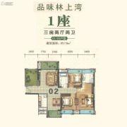盈生林上湾3室2厅2卫118平方米户型图