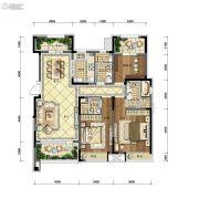 沈阳雅居乐花园3室2厅3卫146平方米户型图