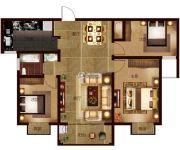帕堤欧3室2厅1卫126平方米户型图