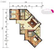 建投・洱海寰球时代2室2厅2卫101平方米户型图