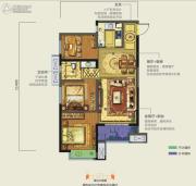 龙湖香醍西岸3室2厅2卫89平方米户型图