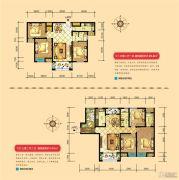 宝龙城市广场3室2厅2卫90--155平方米户型图