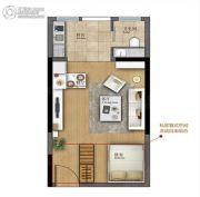 广盈�o荟1室1厅1卫40--50平方米户型图