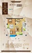 金海国际2室2厅1卫76平方米户型图