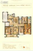 中梁・金座4室2厅2卫143平方米户型图