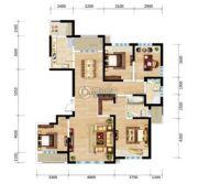 三江・尊园4室2厅2卫160平方米户型图