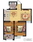 天和豪庭2室2厅1卫92平方米户型图