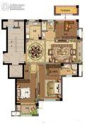 鸿�Z园3室2厅2卫111平方米户型图