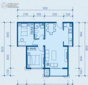 蓝色港湾2室2厅1卫80平方米户型图