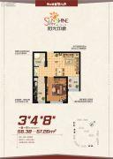阳光印象1室1厅1卫0平方米户型图