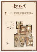 运河龙庭3室2厅2卫128平方米户型图