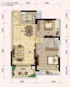 奥林匹克花园五期2室2厅1卫85平方米户型图