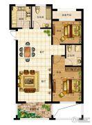 一品星泽湾2室2厅2卫89平方米户型图