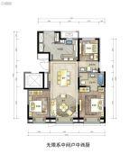 翡翠四季3室2厅2卫0平方米户型图