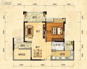 福庆花雨树2室2厅1卫77平方米户型图