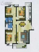 新加坡尚锦城3室2厅2卫122平方米户型图