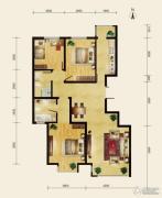 润枫领尚3室2厅1卫117平方米户型图