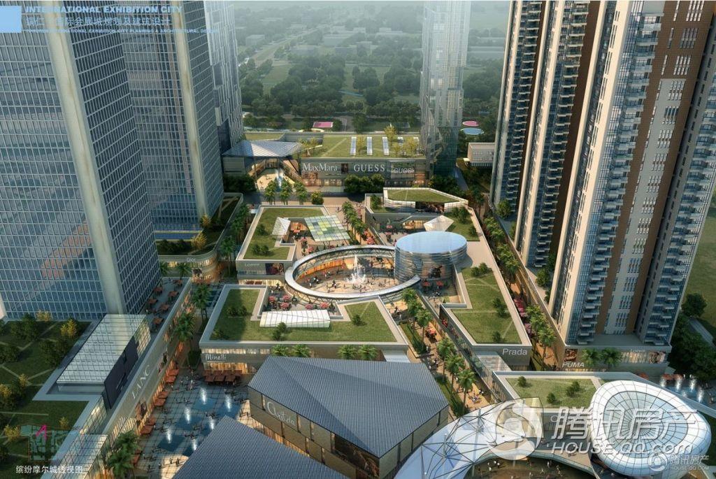 麒龙国际会展城——缤纷摩尔城透视图