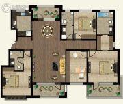 万合名著4室2厅3卫172平方米户型图