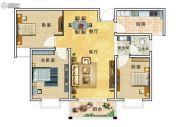 华美国际3室2厅1卫111平方米户型图