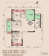 天麟・时代经典2室2厅2卫113--114平方米户型图