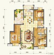 万达西双版纳国际度假区3室2厅2卫115平方米户型图