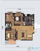 奥山世纪城3室2厅2卫113平方米户型图